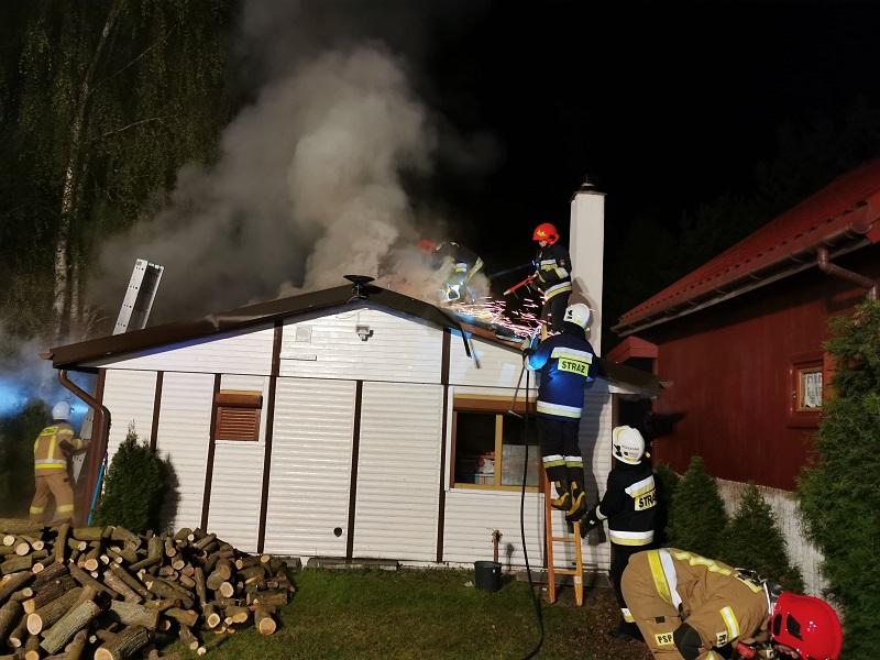 Ślesin Pożar domku letniskowego w Kępie