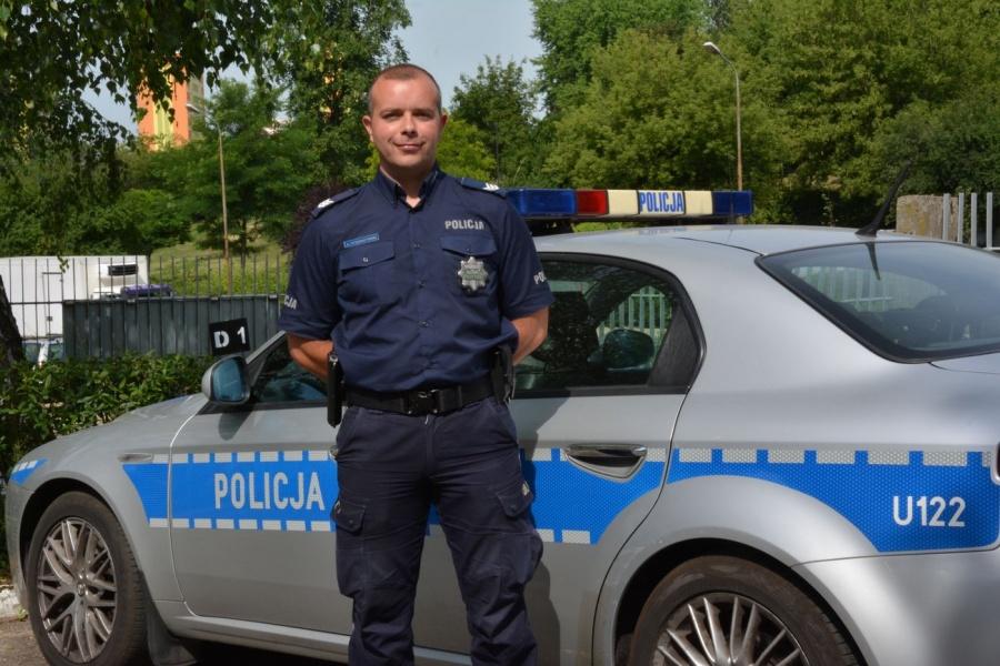 Starszy sierżant Arkadiusz Strzeszyński ze Ślesina