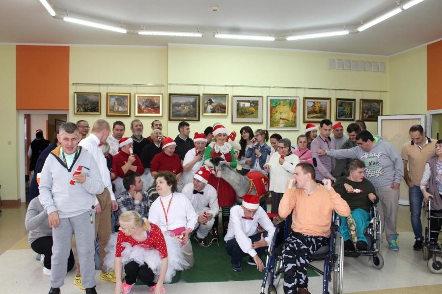 Świętego Mikołaja przywiozły przebrane alpaki