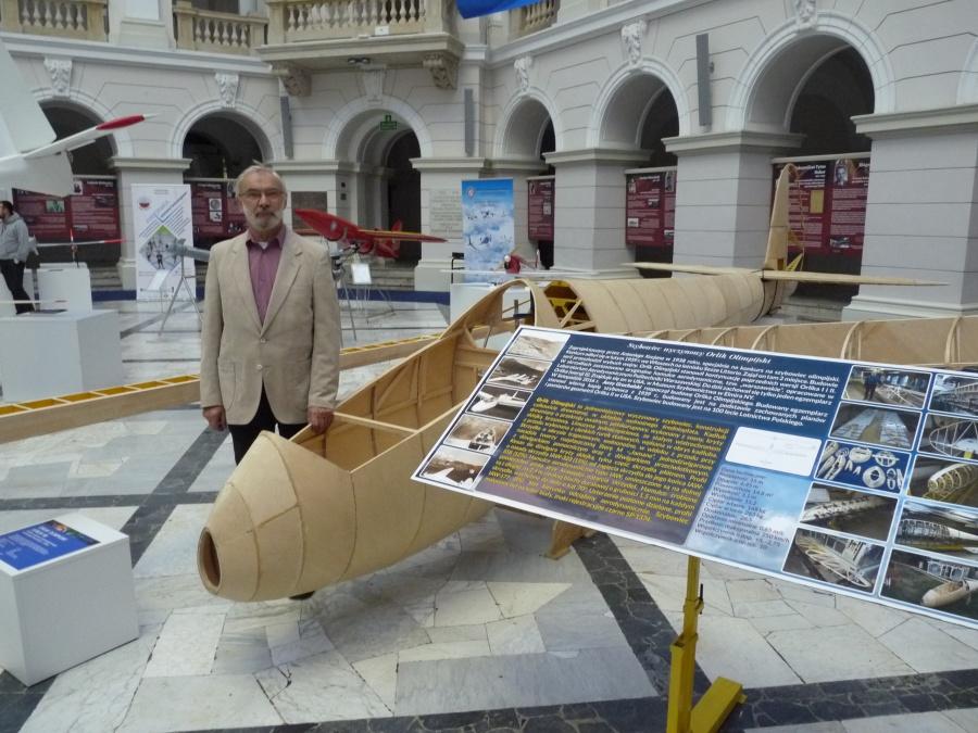 Orlik Jerzego Gruchalskiego na wystawie polskich osiągnięć lotniczych w Warszawie
