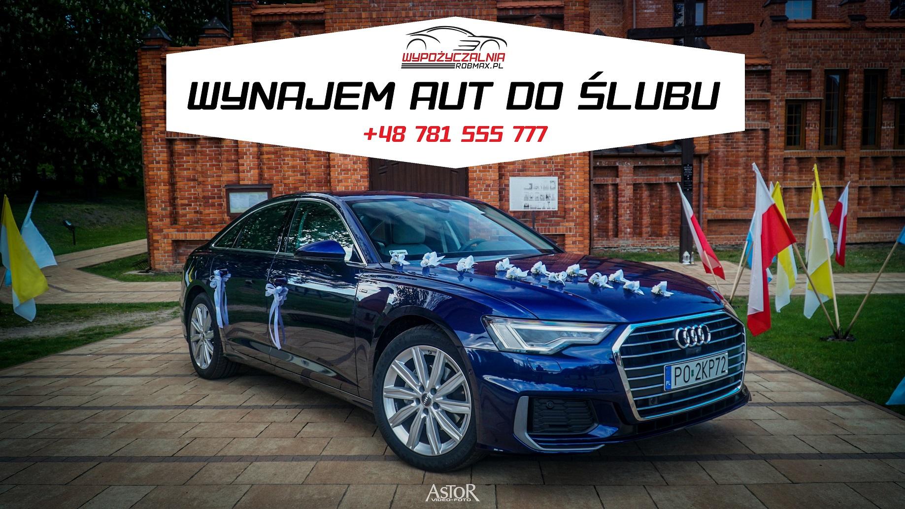 Masywnie Wynajem auta do ślubu na wesele Audi A6 C8 2019 oraz Jaguar XJ i NX96